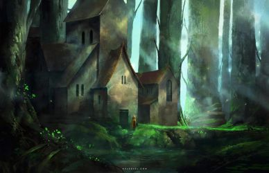 Mansion in the Forest by Nele-Diel