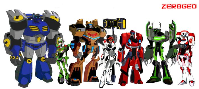 Transformers Animated OC: Team Gigantion (OC Team) by ZER0GEO