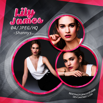 Photopack 3569 - Lily James by xbestphotopackseverr