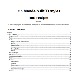 On MB3D Styles and Recipes v.0.2 by ugnvs