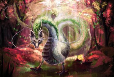 Haku Dragon by FleetingEmber