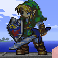 Minecraft Link Statue by myvideogameworld