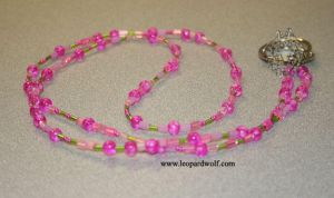 Hot Pink And Green Lanyard by leopardwolf