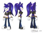 Nebula the Hedgehog reference by GothNebula