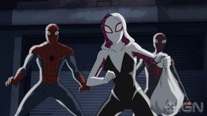 Ultimate Spider-Man: A Trio of Spiders! by sonichedgehog2