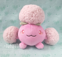 Pokemon: OOAK Shiny Jumpluff by sugarstitch