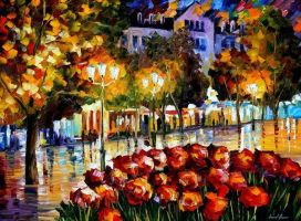 The Flowers Of Luxembourg by Leonid Afremov by Leonidafremov