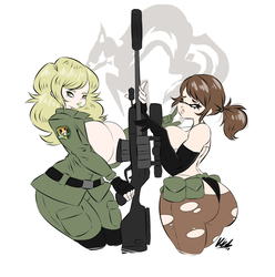 Dual Sniping by Fluffernubber