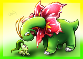 Wooow!  Meganium is soooo big!
