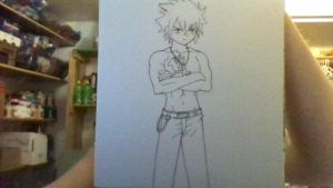 Finished Drawing of Gray From Fairy Tail by iamanimegirl12