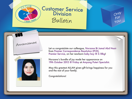 Newborn Baby *Announcement for CS Club Celcom by normizan