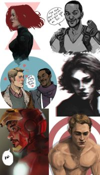 Marvel Sketchdump by Patatat