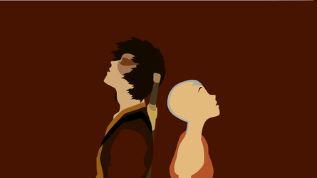 The Avatar and the Firelord Minimalist Wallpaper by DamionMauville