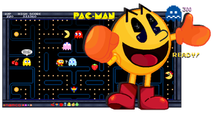 YUM YUM EAT'EM UP! - PAC-MAN! by FierceTheBandit