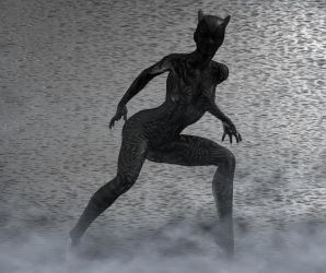 Black Panther 2nd skin textures for V4 by hiram67
