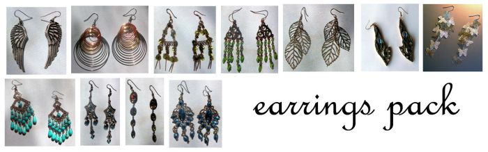 earrings pack by syccas-stock