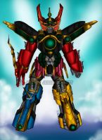 Thunder Megazord armor (Sentai Guardian) by blueliberty