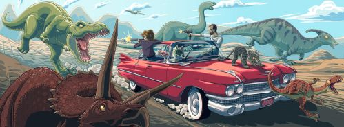 Dinosaurs and Cadillac by shadowstheater