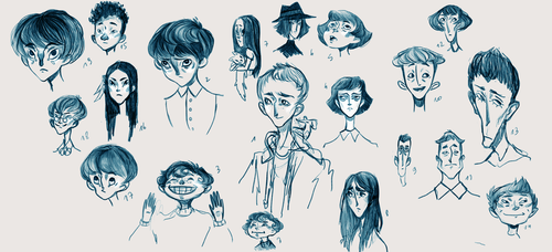 Faces doodle by SpeakLike-a-Child