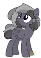 Monochrome Pony Adopt (closed!!) by DuskHorseGhost