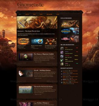 Gnometastic - Warcraft based Wordpress theme by Skipp788