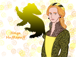 Young Helga Hufflepuff by bltshop