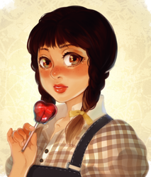 Apple Girl by Cioccolatodorima