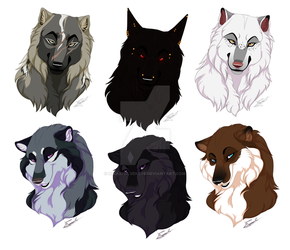 YCH: Headshots COMPLETE by HikariSilverEye