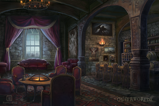 [C] Castle lounge by MalthusWolf