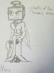 7 Heavenly Virtues: Maria the Chaste by werecatkid17