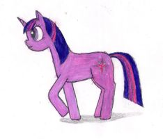 First attempt at Twilight Sparkle by Marianamystery