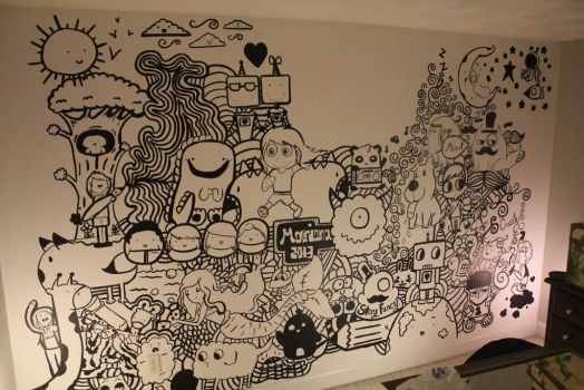 FINISHED PAINTING MY WALL by AGraphicGeek