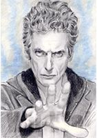 Peter Capaldi miniature by whu-wei