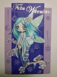 Christmas Card - Little Fairy by redfoxlady