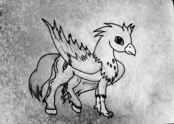 Who's dat handsome hippogriff? by SweetCatSmile