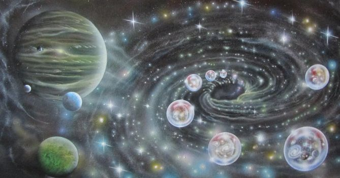 Super Massive Black Hole With Multiverses by sdelrussi
