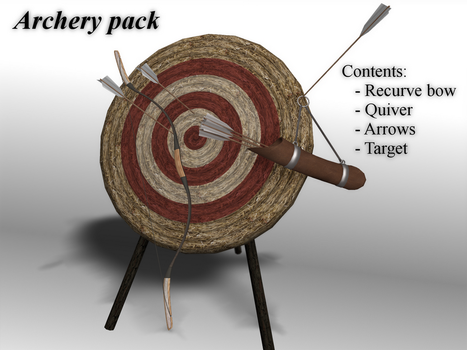 [MMD] Archery pack [download] by Wampa842