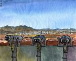 Kaesong. Panorama of the city by Vokabre