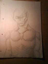 some pencil alien zombie by Var1s