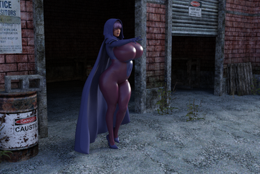 Psylocke cloak and hood test 1 IRAYa by Tazirai