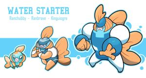 Water Starter Evolution Line by lukeacioli