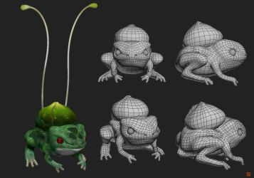Realistic Bulbasaur 3D model by Lo0bo0