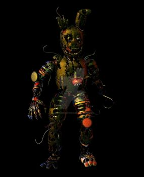 CoolioArt's Springscrap [Breaking down animation] by LillyTheRenderer