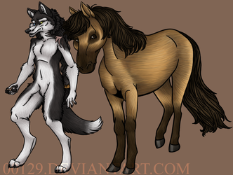 commission - ezra and horse by 00129