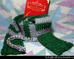 Slytherin Scarf 1 by SmilingMoonCreations