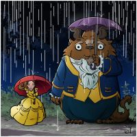 Beauty and the Totoro by seanplenahan
