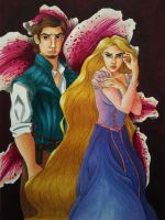 Rapunzel and Eugene by Blossom525