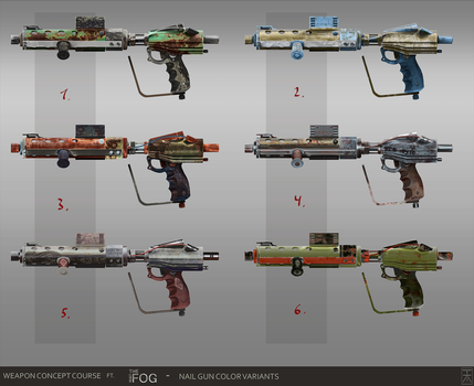Props shadowrun favourites by dirkloechel on deviantart project fog nailgun concept art color variations by arannihk prinsesfo Image collections