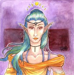 Elven Priestess by delightedmuse