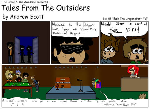 Tales From The Outsiders No.09 Exit The Dragon P02 by heathinvader